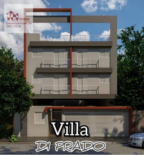 Imagem 1 de 13 de Cobertura Com 2 Dormitórios À Venda, 88 M² Por R$ 399.000,00 - Campestre - Santo André/sp - Co0774