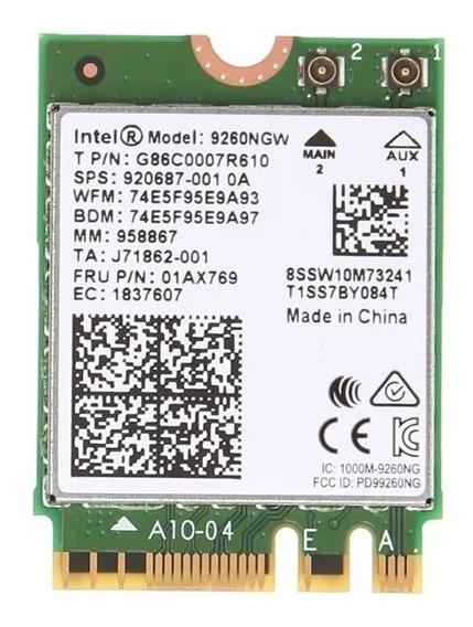 Placa Intel Ngff 9260ngw Bluetooth Dual Band Wi Fi Wifi 9260