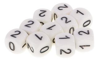 10pcs D6 Dados Numerales 0 1 2 Juego De Dado Y Juego De