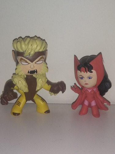 Funko Marvel Mystery Minis Bobble Head Sabretooth Scarlett W