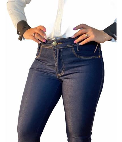 Imagem 1 de 3 de Calcas Jeans Femininas Cintura Alta C/lycra Levanta Bumbum