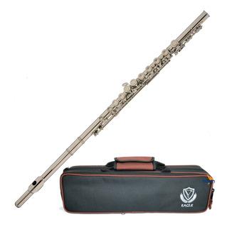 Flauta Sopro Eagle Fl03n Niquelada Transversal Dó Case