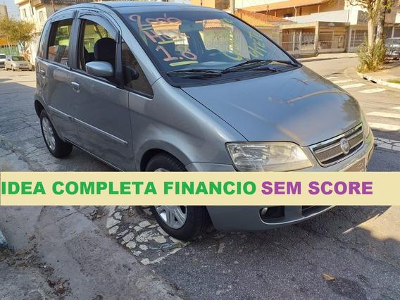 Fiat Idea Completa Com Teto Solar 1.8 Financio Sem Score