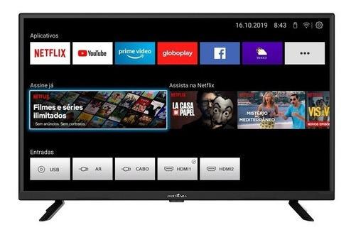 Smart Tv Led Hd 32 Britânia Btv32g52s Netflix E Youtube