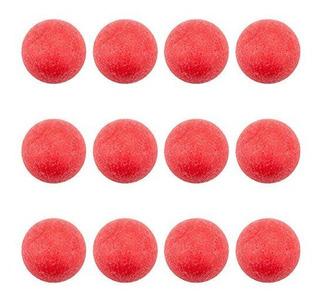 Foosballs Con Relieve Para Mesas De Futbolín Estándar Rojo