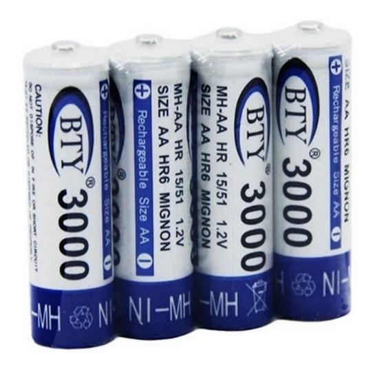 Pila Bateria Recargable Bty Aa 3000mah