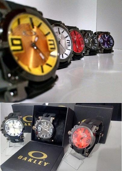 Kit 7 Relógios Oakley Masc Gearbox Titanium C/caixa Atacado