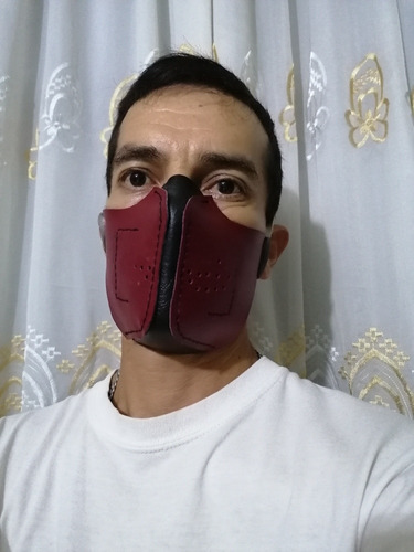 Cubrebocas Gothic Steampunk Leathermask Tipo Motociclista