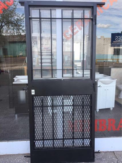 Puerta Reja Mosquitero Y Malla Seguridad Reforzada Con Marco