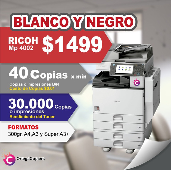 Copiadora Ricoh Mp4002 Oferta
