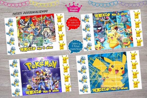 Pokemon Pikachu Tateti Imantado Souvenir Personalizado X 10u