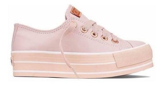 Tênis Capricho Plataforma Rosê Likes Class