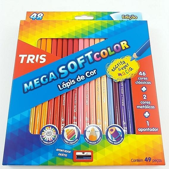 Lapis De Cor Mega Soft Color 48 Cores Com Apontador