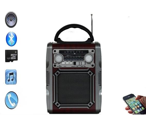Radio Retro Am Fm Sw Com Bateria Bluetooth Usb D-f2