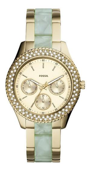 Relógio Fossil Feminino Cronógrafo Dourado Es4757/1dn