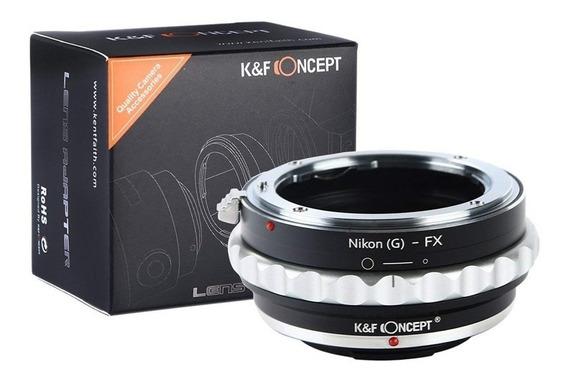Adaptador K&f Concept Nikon Ais, G, F, Dx P/ Câmera Fx-pro