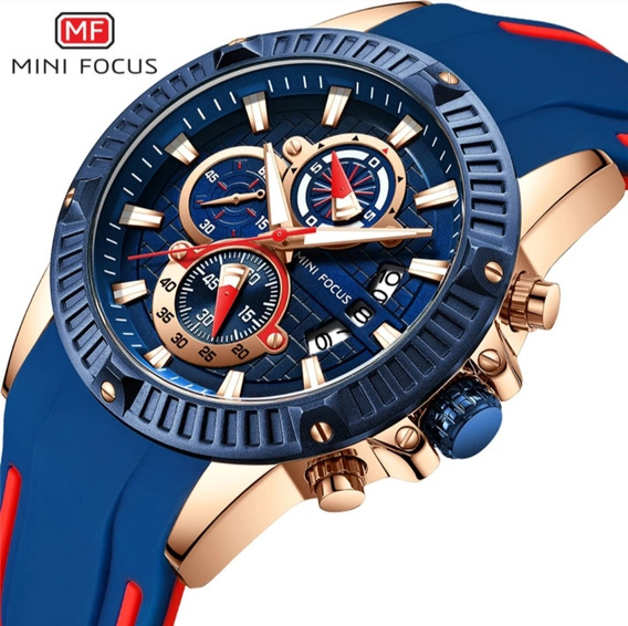 Relógio Masculino Minifocus Militar De Luxo Modelo Mf0244g + Estojo Minifocus Frete Grátis