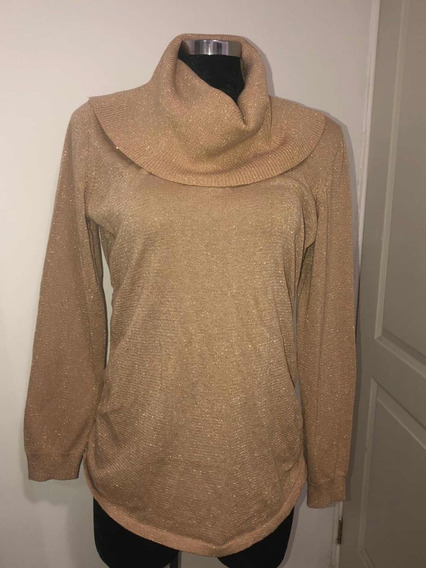 Sweater Suéter Michael Kors Dorado Xl Nuevo Con Etiqueta