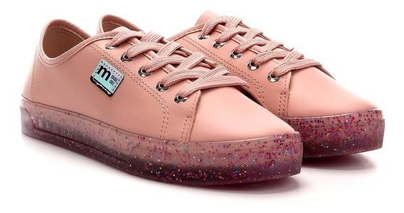 Tênis Moleca Feminino Solado Glitter Rosa - Original + Nfe