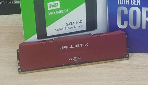Memoria Udimm Crucial Ballistix 8gb Ddr4-2666 Red Bulk