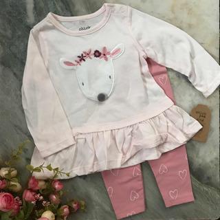 Chick Pea Ropa Para Bebe 6-9 Meses Blusa Y Pantalon