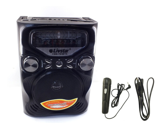 Radio Livstar Am Fm Bluetooth Usb Microfone Karaoke A10067