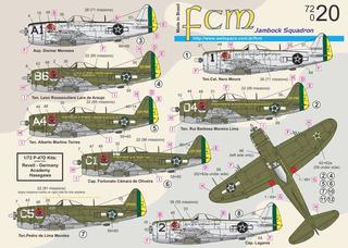 Decalque Fcm 72020 Avião P-47 Senta A Pua Fab 1/72