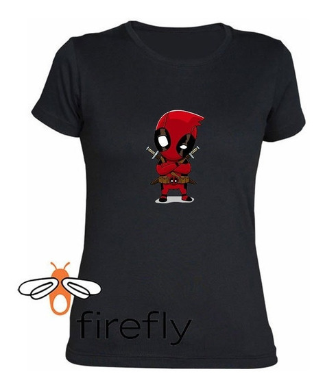 Remera Dead Pool Mujer Negro Coleccion 1 Firefly