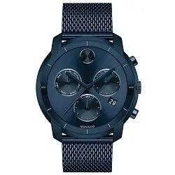 Relógio Movado Bold Masculino Aço Azul - 3600403