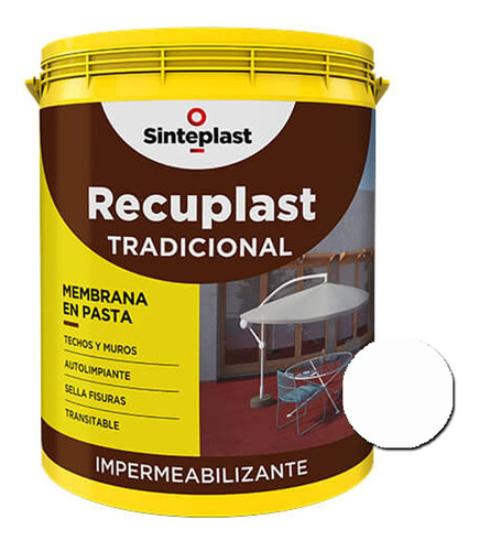 Recuplast Tradicional Memb. Techos/muros 20l 18 Cuotas S/int