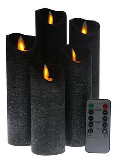 Kitch Aroma Pack De 5 Velas Led Flama Realista Control Rem