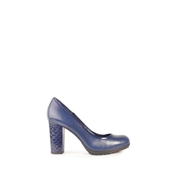 Zapatos Vestir De Mujer De Cuero Lisita Azul - Ferraro -