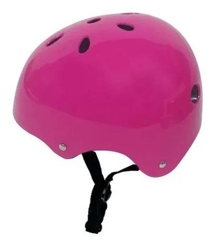 Imagen 1 de 4 de Casco Niños Adultos Bici Roller Patin Ajustable Reforzado