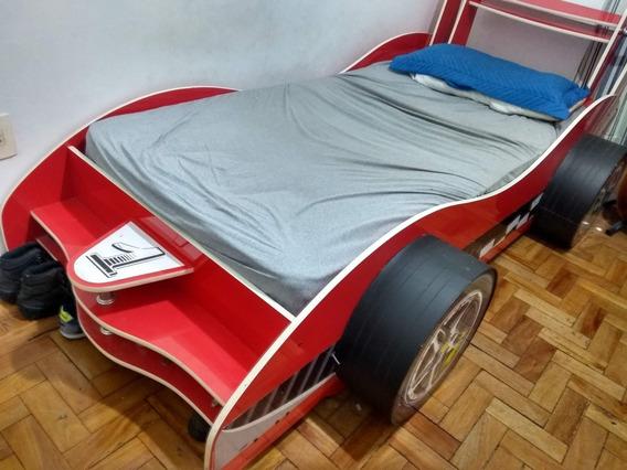 Cama Infantil - Modelo Carro Com Rodas