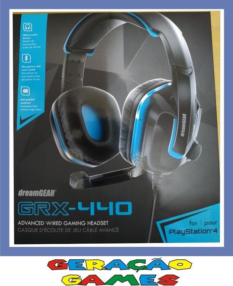 Fone Headset Ps4 Playstation 4 Xbox One Dreamgear Grx-440