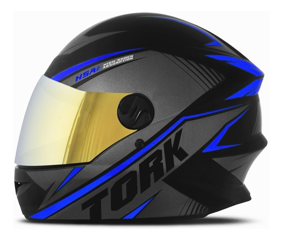 Capacete Moto Fechado R8 Viseira Dourada Pro Tork