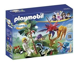 Playmobil Super 4 Lost Island Con Alien And Raptor Buildi