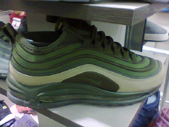 Tenis Nike Air Max 97 Verde Musgo Nº41 Original Na Caixa