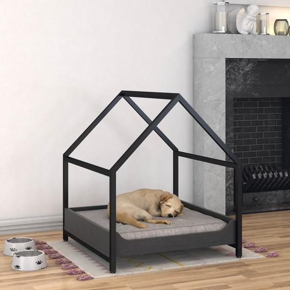 Casinha Pet Steel 60x63x70cm C/almofada Para Cachorro E Gato