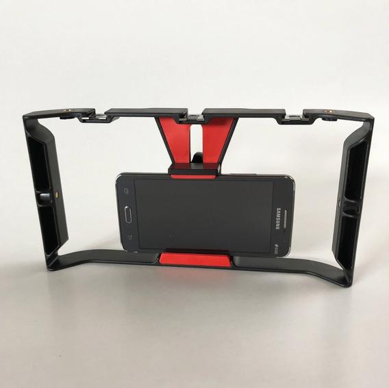 Kit Stabilizador Para Smartphones E Microfone Externo - Vlog