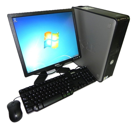 Cpu Dell 780 Core 2 Duo 4gb Ddr3 Hd 160gb Wifi + Monitor 17
