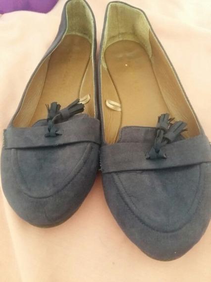 Sapatilha Azul Sapato Feminino