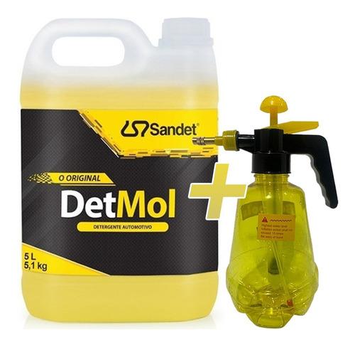 Imagem 1 de 4 de Shampoo 5l Lava Moto Off Road Detmol Sandet + Pulverizador *