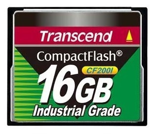 Compact Flash Transcend 16gb 200x Industrial Grade C/ Nf