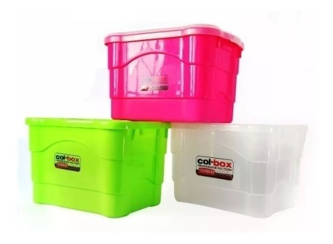 Caja Plastica Organizadora 25 Lts X12 + Cuotas - Colombraro