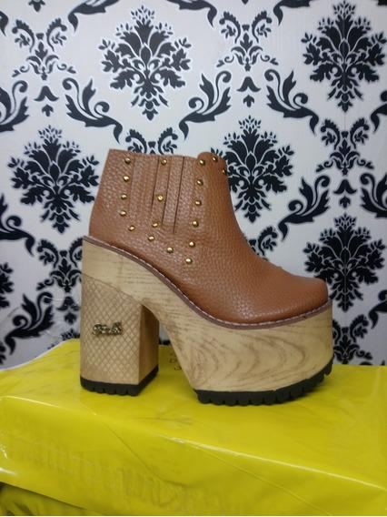 Oferta Talle 35 Zapatos Mujer De Fiesta Plataforma Botas