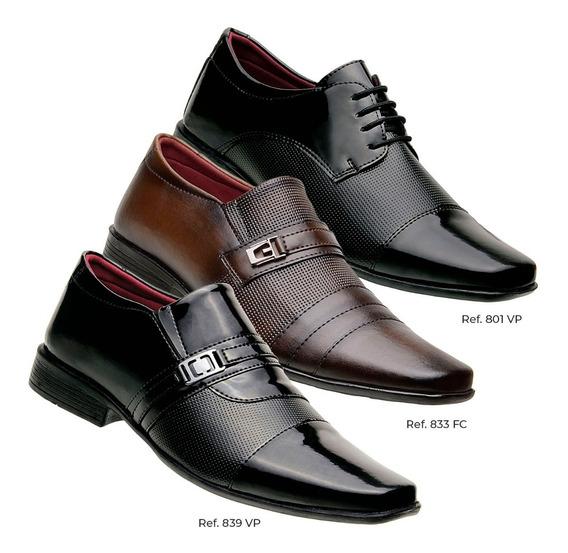 Moda Social Sapatos Italiano Masculino Couro Atacado Top !