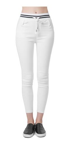 Nueva Moda Mujer Casual Pantalones Cintura Elastica Con Cord Mercado Libre