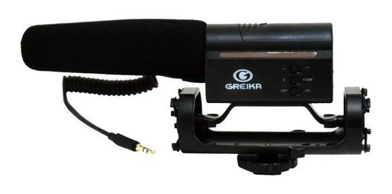 Microfone Direcional Condensador Para Câmeras Gk-sm10 Greika