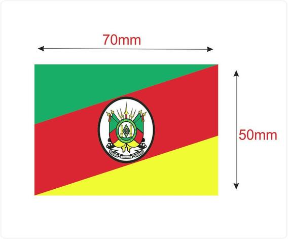 Etiqueta Bandeira Rio Grande Do Sul 50x70mm Pacotes Com 100
